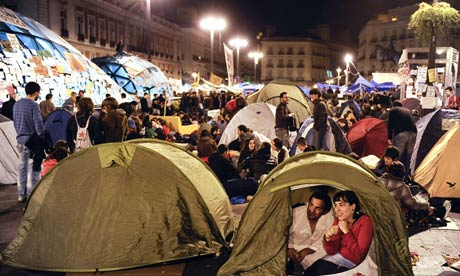 Spain's indignados return to the streets amid fears of crackdown  Protesters plan four-day campaign to mark the anniversary of Madrid's 'occupy' movement