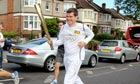 Observer writer Owen Gibson as a Olympic torch bearer