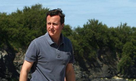 David Cameron And Family Holiday In Cornwall