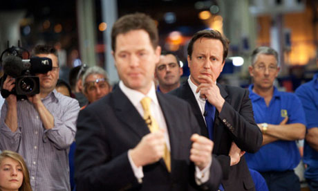 Nick Clegg and David Cameron