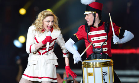 Madonna performs in Poland as part of her world tour. She is due in Moscow this week. Photograph: Jacek Turczyk/EPA