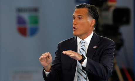 US Republican presidential nominee Mitt Romney