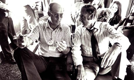 Hunter S Thompson and George McGovern during the 1972 presidential campaign