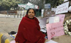 A lone protester from Gujarat