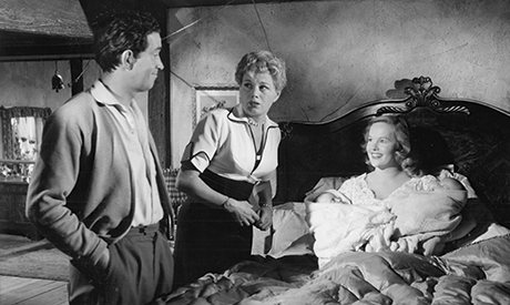 John Gregson, Shelley Winters and Peggy Cummins in To Dorothy a Son (1954).