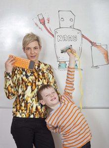 Miranda and Patrick at the Kano office in east London.