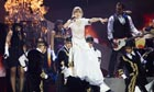 Taylor Swift performs at the Brits