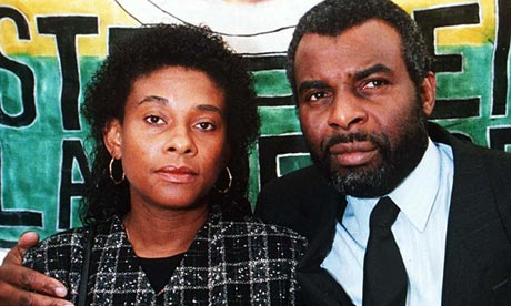 Doreen and Neville Lawrence, parents of the murdered teenager Stephen, in 1995.