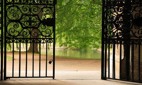 open gate at Trinity college Cambridge University. Image shot 06/2007. Exact date unknown.