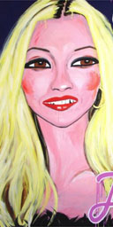 Kate Moss painted by Stella Vine (detail)