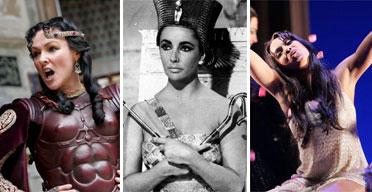 Frances Barber, Elizabeth Taylor and Danielle de Niese's Cleopatras