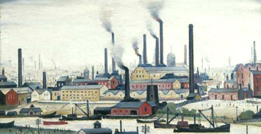 A Riverbank by LS Lowry