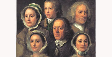 William Hogarth's Heads of Six of Hogarth's Servants