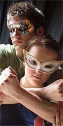 Emma Grey and Riccardo Arcari in Romeo and Juliet at St Thomas Aquinas Secondary School