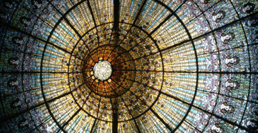 Stained glass skylight of the Palau de la Musica