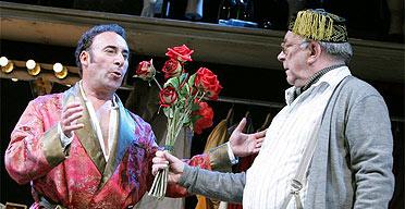 Antony Sher and Sam Kelly in Kean, Apollo Theatre