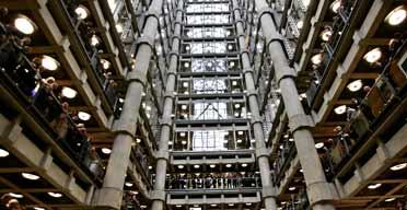 Inside the Lloyd's Building, London