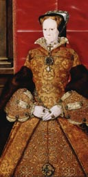 Portrait of Queen Mary I, 1554, by Hans Eworth, Royal Academy