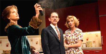 Jenny Seagrove, David Bamber and Jane Horrocks in Absurd Person Singular, Garrick