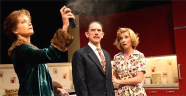 Jenny Seagrove, David Bamber and Jane Horrocks in Absurd Person Singular, Garrick