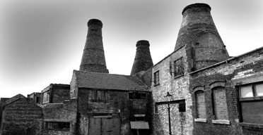 Brick bottle ovens, once a characteristic feature of the Stoke-on-Trent pottery industry