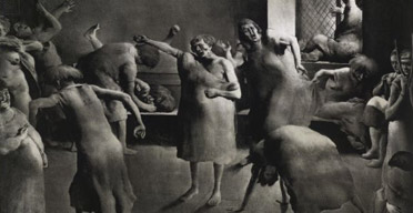 George Bellows, Dance in a Madhouse (1917), from the British Museum's The American Scene exhibition