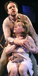 Rafe Spall and Saskia Reeves in Hello and Goodbye, Trafalgar Studios