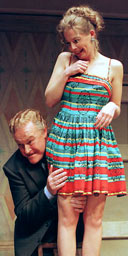 Timothy West and Lisa Dulson in The Birthday Party, Piccadilly Theatre, London