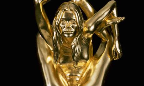 Marc Quinn's gold statue 'Siren' of Kate Moss
