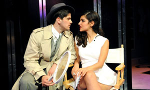Rhys Rusbatch (Stone) and Leila Farzad (Alaura Kingsley) in City Of Angels @ Guildhall School Of Music & Drama