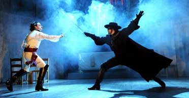 Adam Levy (Ramon) and Matt Rawle (Diego) in Zorro @ Garrick Theatre