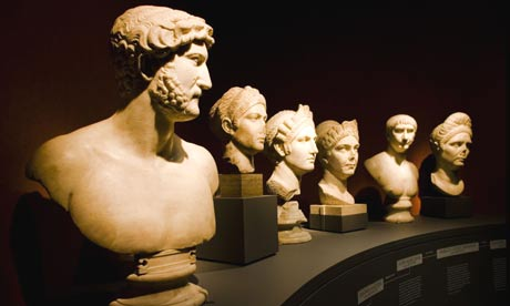 Sculptures in the Hadrian: Empire and Conflict exhibition at the British Museum