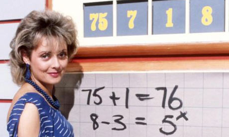 Carol Vorderman on Countdown in 1984. Photograph: ITV/Rex Features