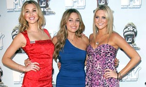 Whitney Port, Lauren Conrad and Stephanie Pratt from the US 'reality' show The Hills