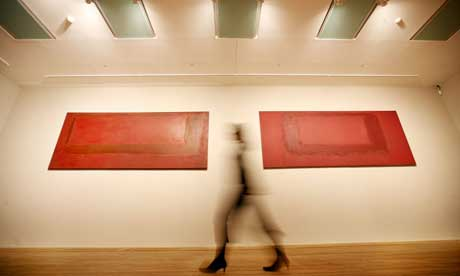 Mark Rothko's Red on Maroon mural sections at Tate Modern