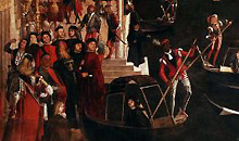 1000 artworks: Vittore Carpaccio, Miracle of the Relic of the True Cross at the Rialto Bridge (1494)