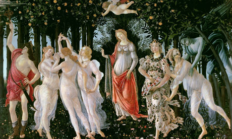 1000 artworks: Detail of Botticelli's Primavera