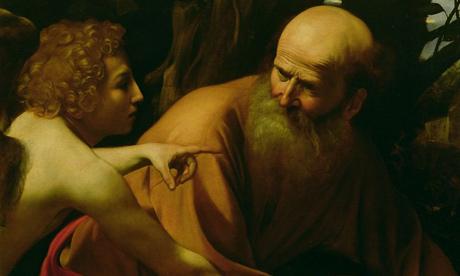 1000 artworks: Detail of Caravaggio's Sacrifice of Isaac