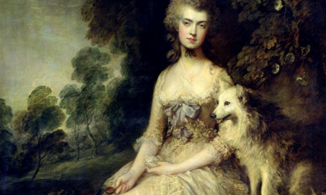 1000 artworks: Detail of Mrs Mary Robinson (Perdita) by Thomas Gainsborough