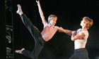 Liam Mower and Isaac James in Billy Elliot at the Victoria Palace theatre in 2005