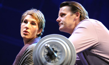 Tamsin Greig and Anthony Calf in Gethsemane, Cottesloe theatre, London