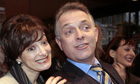 Carol Bernstein and Rik Mayall at the open auditions for the role of Cherie Blair in The New Statesman