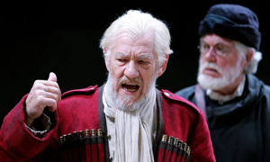 Ian McKellen and David Weston in the RSC's King Lear