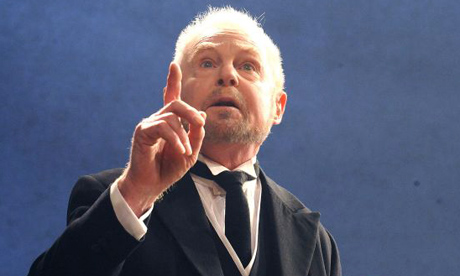 Derek Jacobi as Malvolio in Twelfth Night at Wyndham's theatre in London