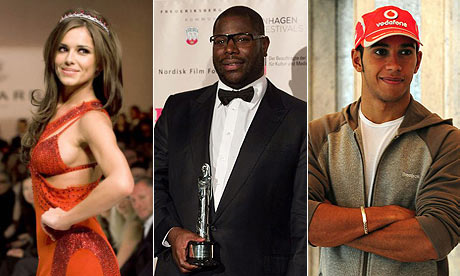 Cheryl Cole, Steve McQueen and Lewis Hamilton