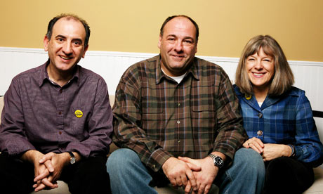 Armando Iannucci, James Gandolfini and Mimi Kennedy