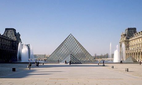 Louvre pyramid, Paris, designed by IM Pei