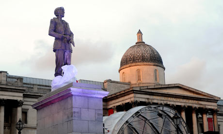 Statue of Keith Park, on the Fourth Plinth in Trafalgar Square.  Like all Fourth Plinth statues, its temporary.