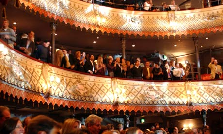 The audience at the Old Vic theatre in London