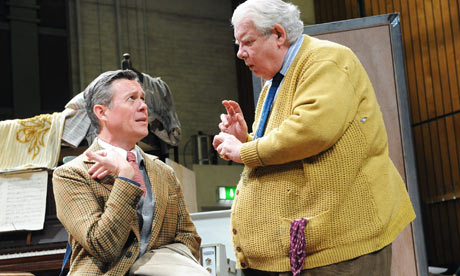 Alex Jennings as Henry and Richard Griffiths as Fitz in The Habit Of Art at the National Theatre
